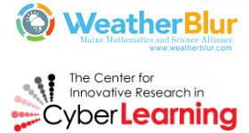 Weather Blur and The Center for Innovative Research in Cyber Learning Logos