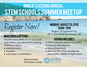 Register Now for STEM Schools Summer Meetup