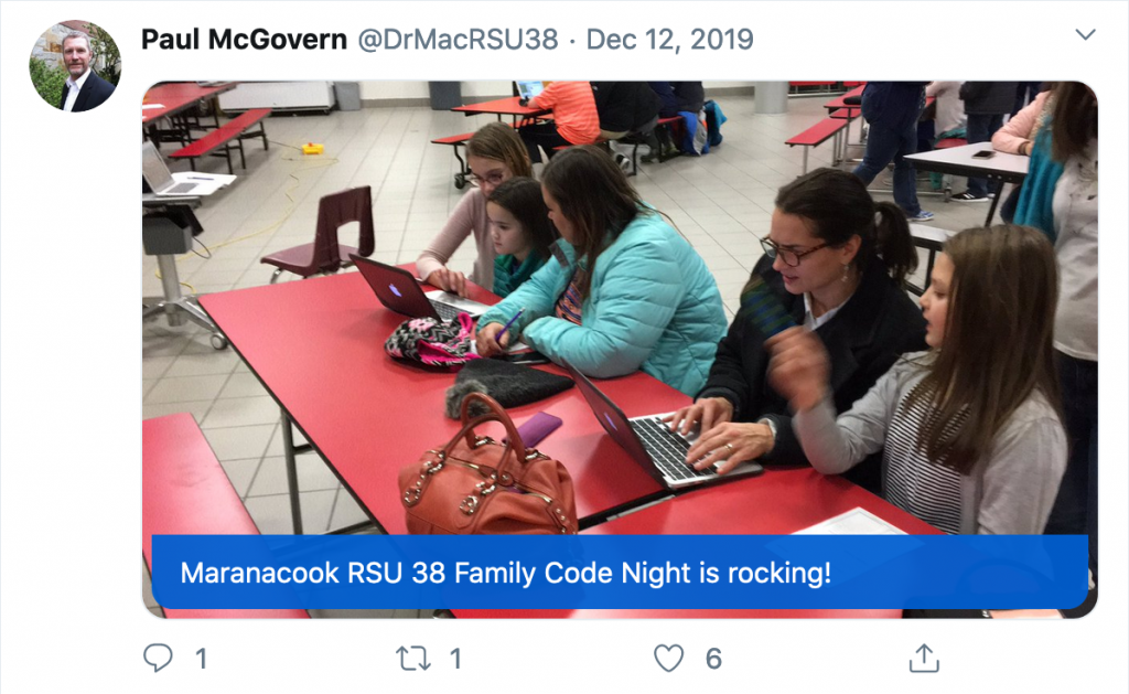 Tweet from Paul McGovern of RSU 38